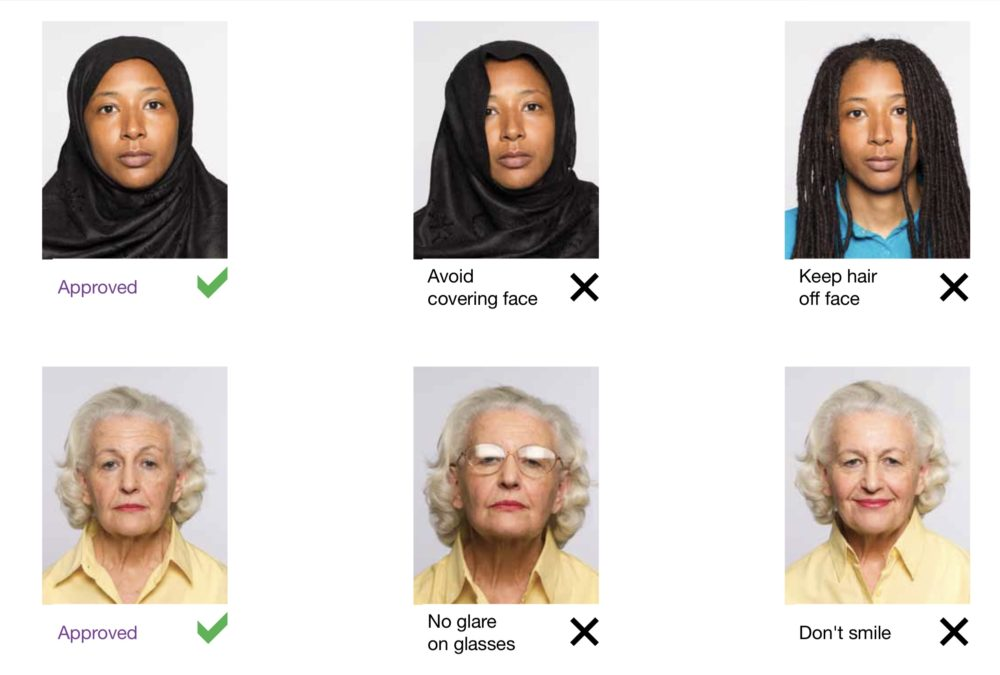 How not to take your own passport photo